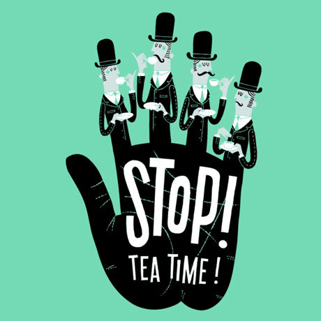 stop tea time threadless