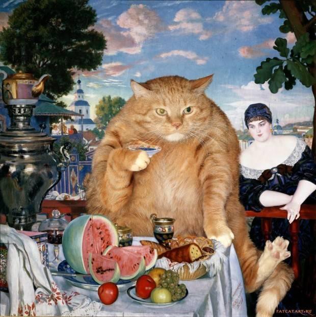 BorisKustodiev_MerchantsWifeatTea-cat