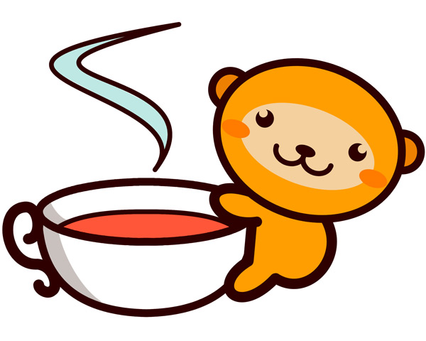 monkey with tea